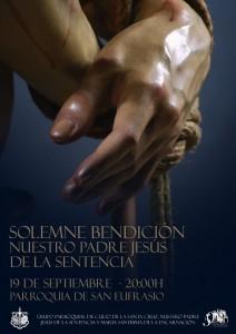 Cartel de bendición de Nuestro Padre Jesús de la Sentencia