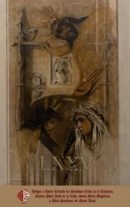 Cartel del 75 aniversario de la Clemencia como cofradía pasionista