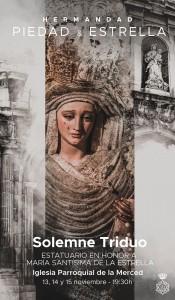 Cartel del Triduo a María Santísima de la Estrella